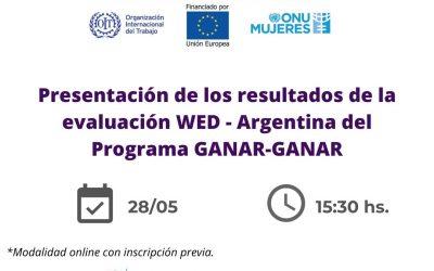 Presentación de los resultados de la evaluación WED – Argentina del Programa GANAR-GANAR