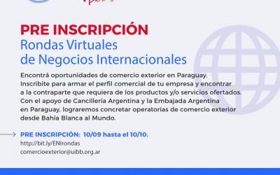[PRE INSCRIPCIÓN] Rondas Virtuales de Negocios Internacionales