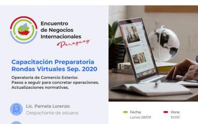 ENI – Capacitación Preparatoria Rondas Virtuales Septiembre/2020